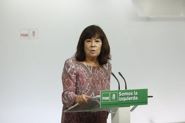 Roda de premsa de Cristina Narbona després d'una trobada sobre canvi climàtic