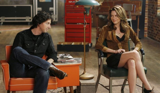 Mark Schwahn y Hilarie Burton en 'One Tree Hill'
