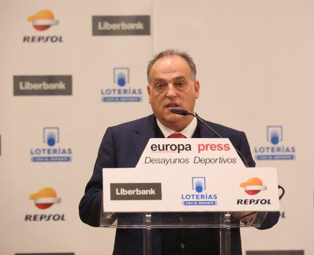 Desayuno Deportivo de Europa Press con Javier Tebas