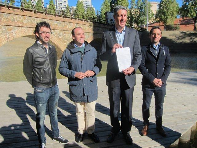 J. Milián, D. Serrano, X. G. Albiol i M. Reyes (PP)