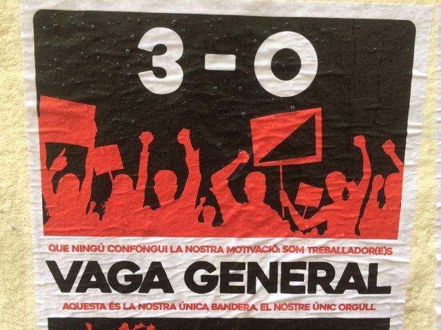 Cartel de la huelga general del 3-O en Catalunya