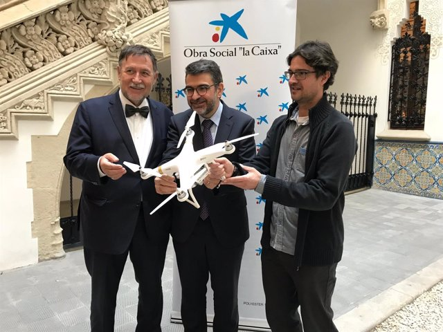 Martí Boada, Àngel Font y Jordi Vayreda en la presentación
