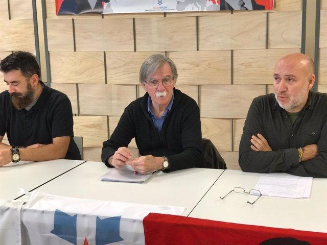 Juan Martín Guevara, irmán do Che, en rolda de prensa con Agora Galiza