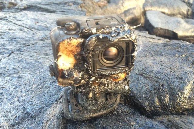 cámara quemada