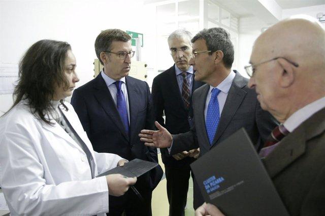 Feijóo visita o Centro Tecnolóxico dá Lousa e Lousas do Val