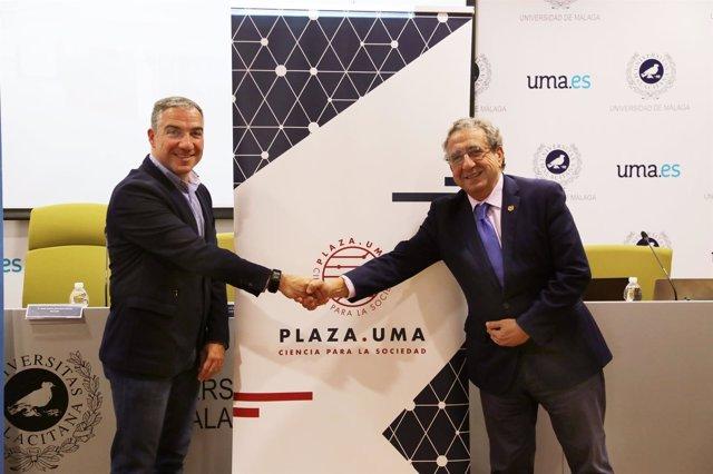 Elías Bendodo y José Ángel NArváez