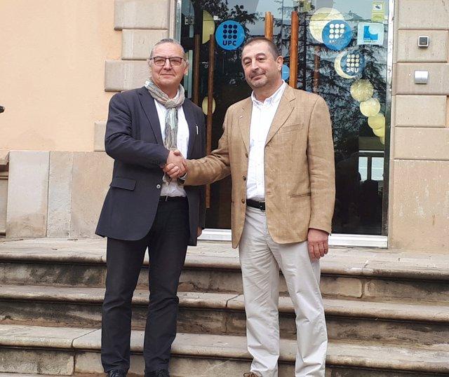 Els candidats a rector de la UPC Enric Fossas i Francesc Torres