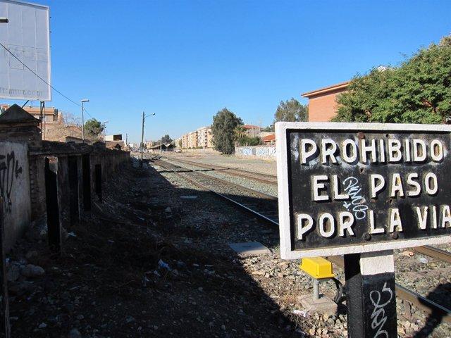 Paso a nivel Santiago el Mayor. Soterramiento. Ferrocarril