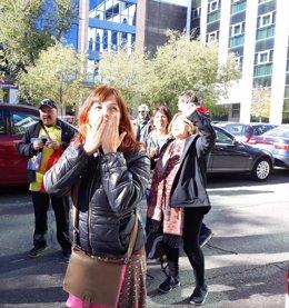 La activista de Tetuán, Isa, juzgada por un desahucio