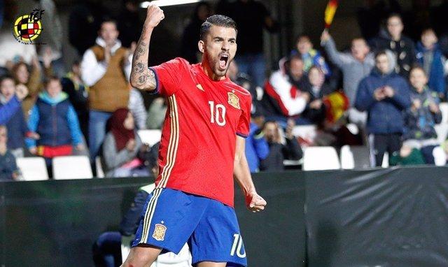 Dani Ceballos celebra un hat-trick con la Sub-21