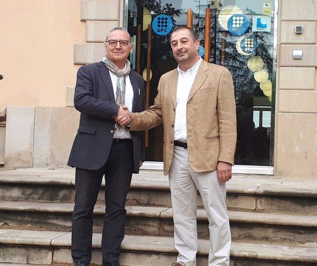 Los candidatos a rector de la UPC Enric Fossas y Francesc Torres