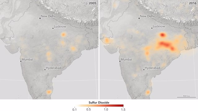Emisión de SO2 en la India