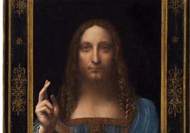L'obra 'Salvator Mundi' de Leonardo da Vinci, bat tots els rècords després de subhastar-se per 381 milions d'euros (REUTERS)