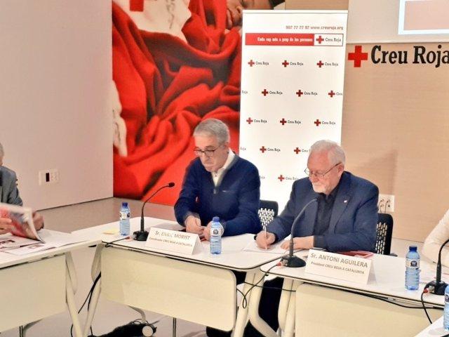 El coordinador y el presidente de Creu Roja Catalunya