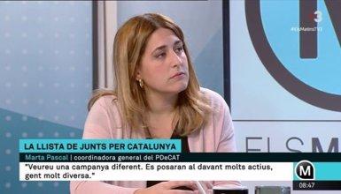 Pascal (PDeCAT) creu que Puigdemont ha de repetir com a president encara que no guanyi JuntsxCat (CCMA)