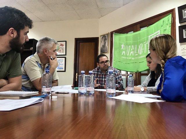 Reunión entre Podemos y UGT