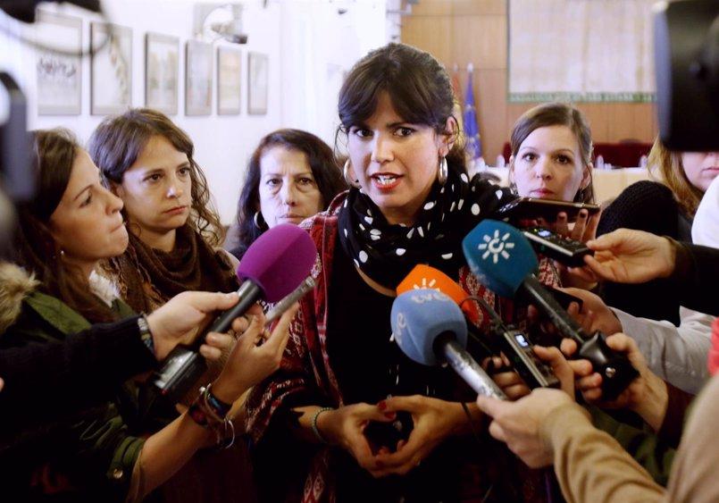 """Teresa Rodríguez: """"Ni Iglesias, ni Sánchez"""" pueden cuestionar que Andalucía es nacionalidad histórica"""