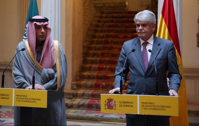 Alfonso Dastis recibe al ministro de Relaciones Exteriores de Arabia Saudí