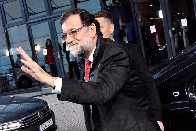 Rajoy en su llegada a Goteborg