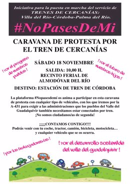 Cartel de la caravana de #Nopasesdemí