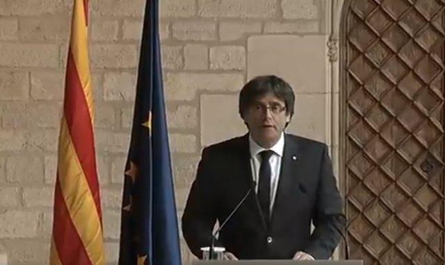 El pte.Carles Puigdemont
