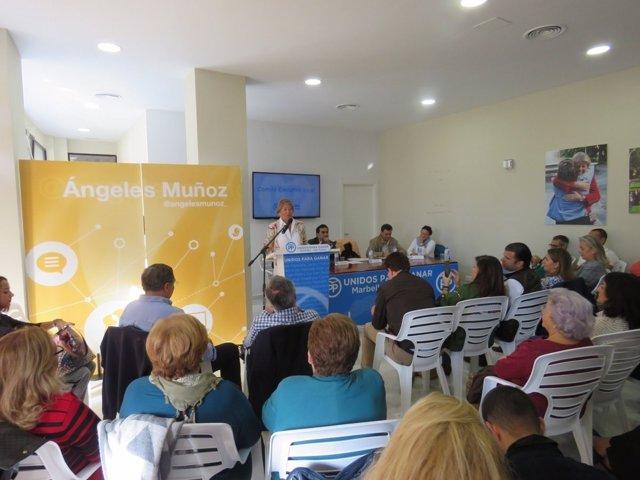 Angeles muñoz comité ejecutivo local PP Marbella San Pedro