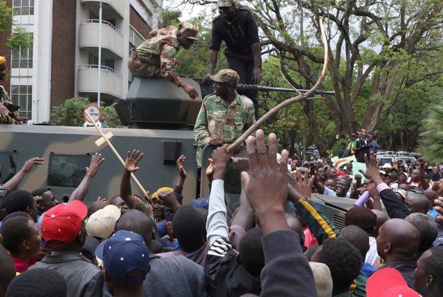 Protestas Zimbabue contra Mugabe