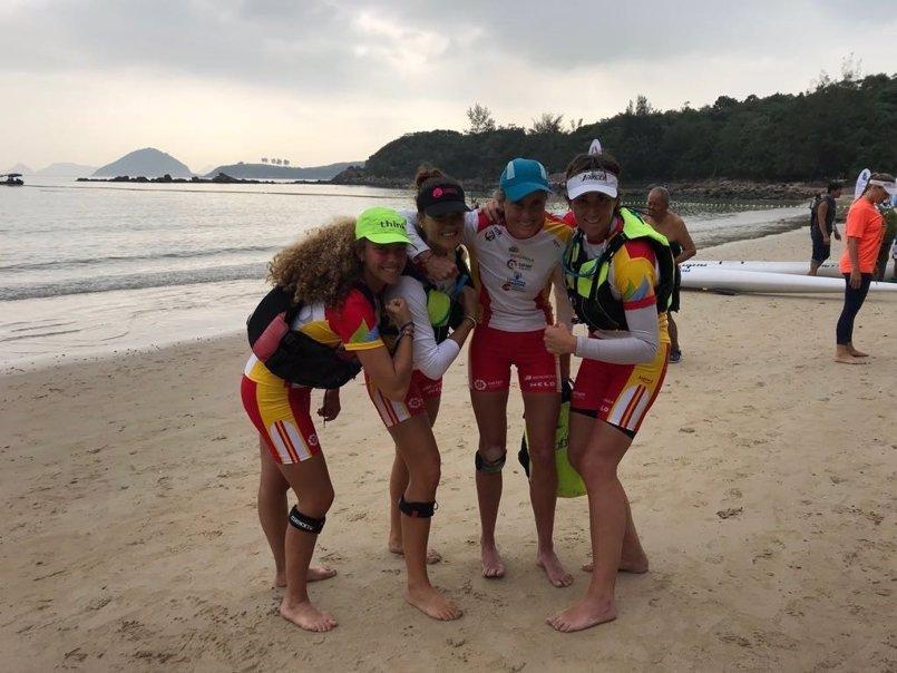 Las palistas españolas rozan el podio en el Mundial Ocean Racing de Hong Kong