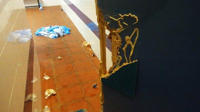 Destrozos en vestuarios de La Salobreja, en Jaén