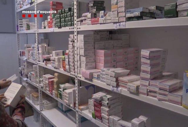 Medicaments intervinguts pels Mossos
