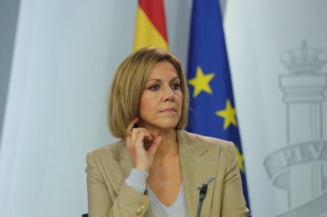 Rueda de prensa de Cospedal tras el Consejo de Ministros