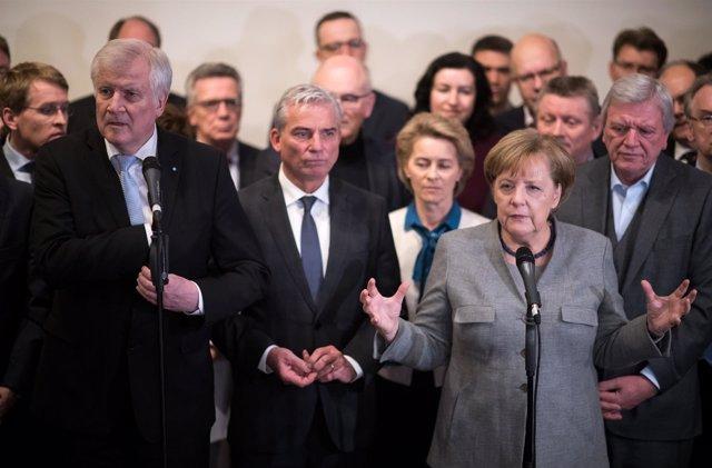 Angela Merkel tras el fracaso de las conversaciones de coalición