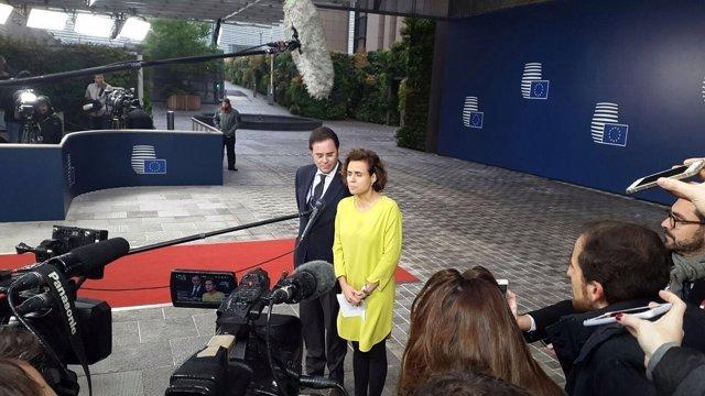 Ministra de Sanidad, Dolors Montserrat, en Bruselas