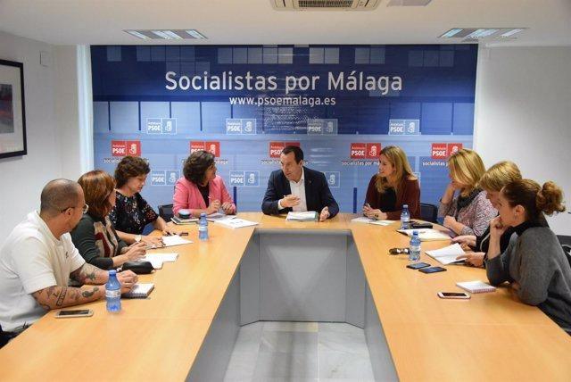 Reunión líder secretario general PSOE Málaga Ruiz Espejo con igualdad mujeres