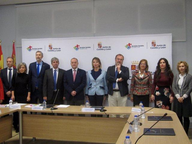La consejera y los rectores de las universidades de CyL.