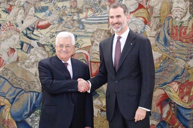 Reunión del Rey Felipe VI con el presidente de Palestina, Mahmoud Abbas