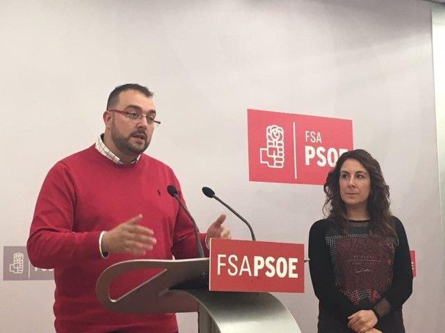 El secretario general de la Federación Socialista Asturiana, Adrián Barbón