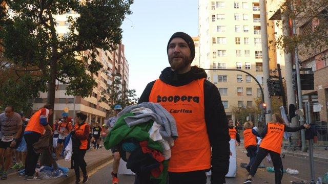 Record de donaciones de prendas solidarias en la Maratón