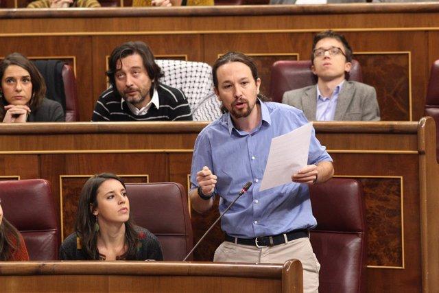 Pablo Iglesias en la sesión de control al Gobierno