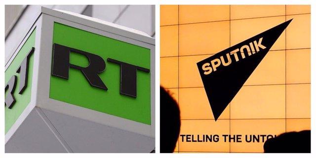 Logotipos de Russia Today y Sputnik