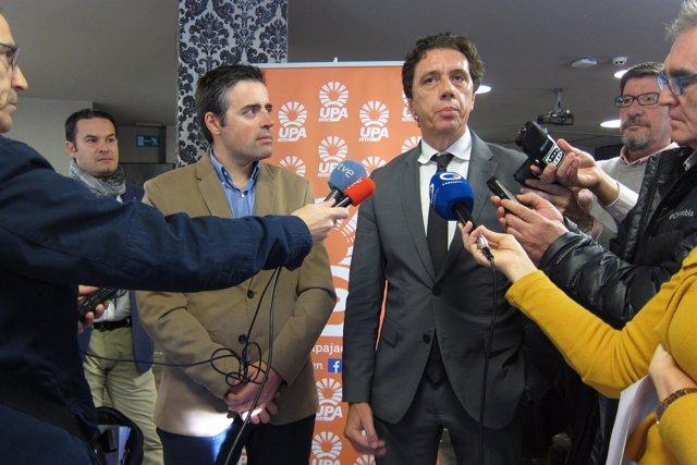 El consejero delegado de Deoleo, Pierluigi Tosato, atiende a los periodistas.