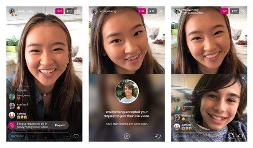 Nueva función de directos compartidos de Instagram