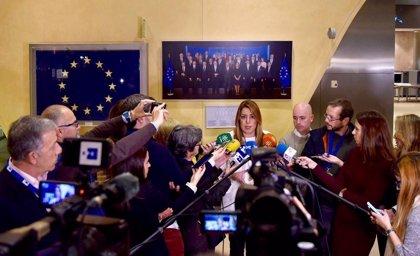 Susana Díaz espera que la coordinación entre Gobierno, Junta y CE permita una solución para la aceituna negra de mesa