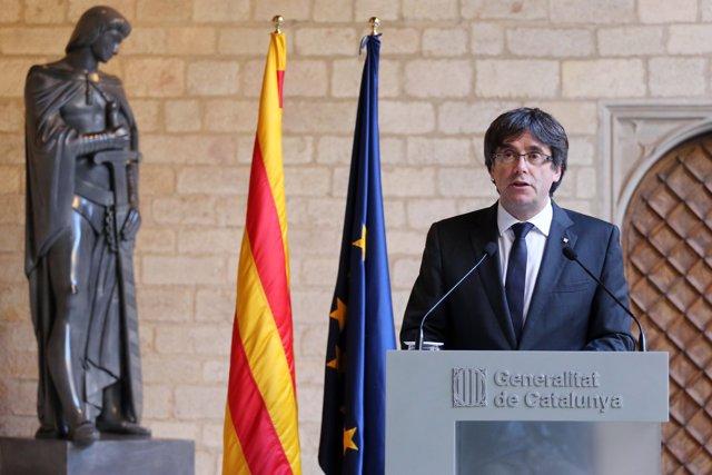 El president de la Generalitat destituït, C.Puigdemont, en una imatge d'arxiu.
