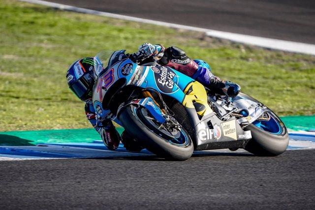 Álex Márquez en el test de Jerez de la Frontera