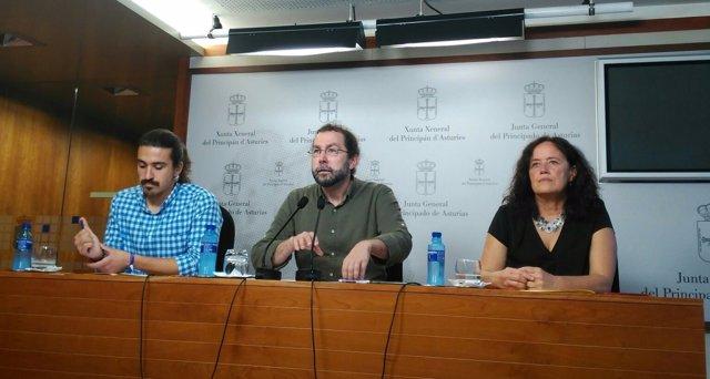 Rueda de prensa de Podemos.