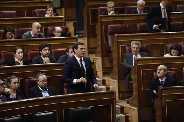 Albert Rivera en el pleno del Congreso por el cupo vasco