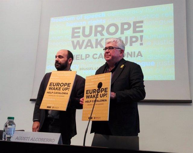 Marcel Mauri (Òmnium) y Agustí Alcoberro (ANC)