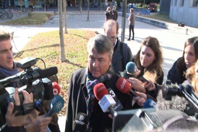 El abogado Agustín Martínez Becerra, en Pamplona.