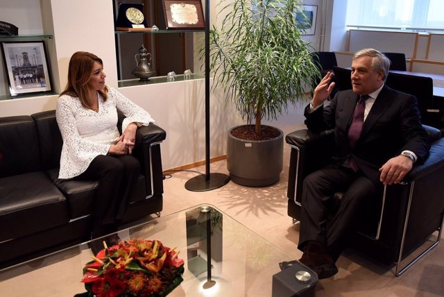 Susana Díaz reunida con Antonio Tajani